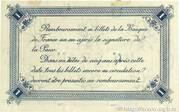 1 franc - Chambre de Commerce de Calais [62] – revers