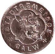 5 pfennig - Calw – avers