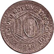 10 pfennig - Calw – revers
