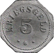 5 pfennig - Camberg -  revers