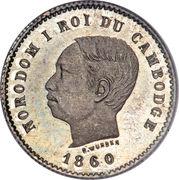 50 centimes - Norodom I – avers