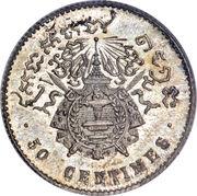 50 centimes - Norodom I – revers