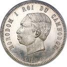 4 francs - Norodom I – avers