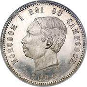 4 francs - Norodom I -  avers