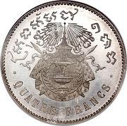 4 francs - Norodom I – revers