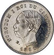 50 centimes - Norodom I (Essai) – avers