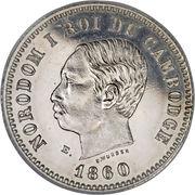 1 franc - Norodom I (Essai) – avers