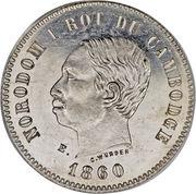 2 francs - Norodom I (Essai) – avers