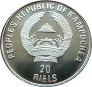 20 Riels (Jeux Olympiques d'hiver - Albertville 1992) – avers