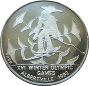 20 Riels (Jeux Olympiques d'hiver - Albertville 1992) – revers