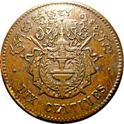 10 centimes - Norodom I – revers