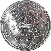 20 Riels (Coupe du monde de football - Italie 1990) – revers