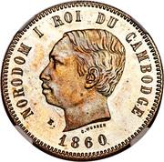 4 Francs - Norodom I (Essai) -  avers