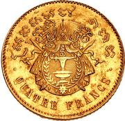 4 Francs - Nordom I (Pattern) – revers