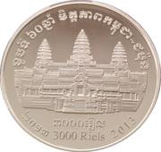 3000 riels (Amitié Japon - Cambodge) – avers