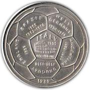 4 riels (Coupe du monde de football Italie 1990) – revers