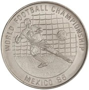 20 riels (Coupe du monde de football 1986) – revers