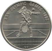 4 riels (Jeux olympiques Barcelone 1992) – revers
