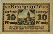 10 Pfennig (Camburg) -  revers