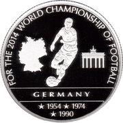 100 Francs - Coupe du monde de football (Allemagne) – revers