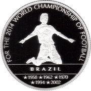 100 Francs - Coupe du monde de football (Brésil) – revers
