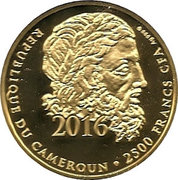 2500 Francs / Discobolus – avers