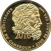 2500 Francs / Javelin throw – avers
