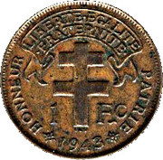 """1 Franc - """"LIBRE"""" – revers"""