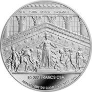 10000 Francs CFA (NY Stock Exchange) – avers