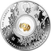 500 Francs (Seven elephants) – avers