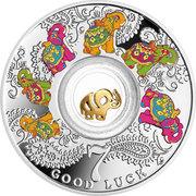 500 Francs (Seven elephants) – revers