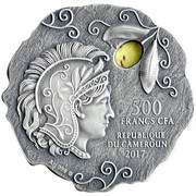 500 Francs (Owl of Athens) – avers