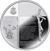 100 000 francs CFA (Karol Wojtyła) – avers