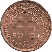 "50 centimes - ""LIBRE"" – revers"
