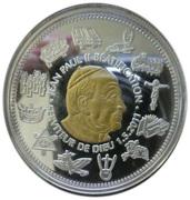 100 Francs (Pope John Paul II beatification) – revers