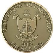 3000 francs CFA (Méduse) – avers