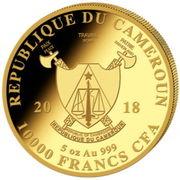 10000 Francs - Elephant (big five) – avers