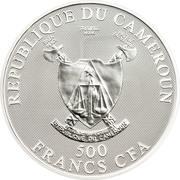 500 Francs CFA (Verseau) – avers