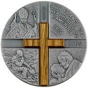 3000 francs CFA (100e anniversaire de la naissance de Karol Wojtyła) – avers