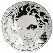 250 francs CFA (250e anniversaire de Ludwig van Beethoven) – revers