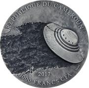 3000 francs CFA  (Affaire de Roswell) – avers