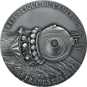 3000 francs CFA (Vostok 1) – avers