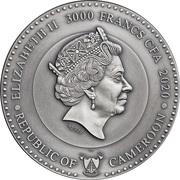 3000 francs CFA (Mars) – avers