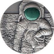 3000 francs CFA (50e anniversaire de la mission Apollo 11) – revers