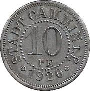 10 pfennig - Cammin – avers