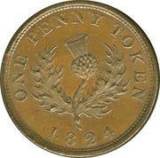 1 penny George IV – revers