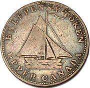 ½ penny Commercial Change (revers à enclume) – avers