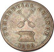 ½ penny Commercial Change (revers à enclume) – revers