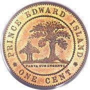 1 cent Victoria – revers