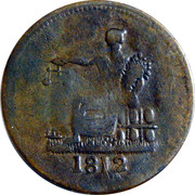 1/2 Penny (Imitation Tiffin Token) – revers